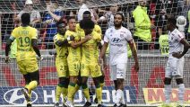 FC Nantes Sameul Moutoussami but contre Lyon 28 sep 2019 (AFP)