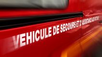 Illustration pompiers accident tracteur Cantal