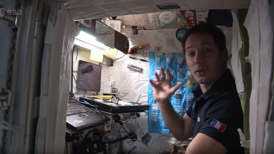 ISS : le Normand Thomas Pesquet fait visiter sa chambre