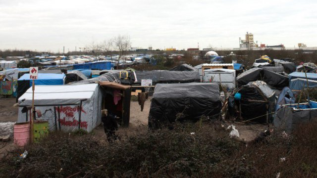 "Dans la ""jungle"" de Calais © DENIS CHARLET / AFP"
